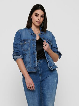 CURVY LIGHT BLUE DENIM JACKET