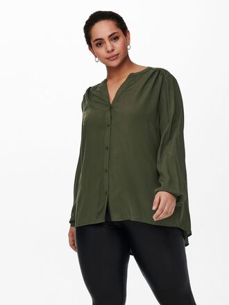 CURVY V-NECK SHIRT