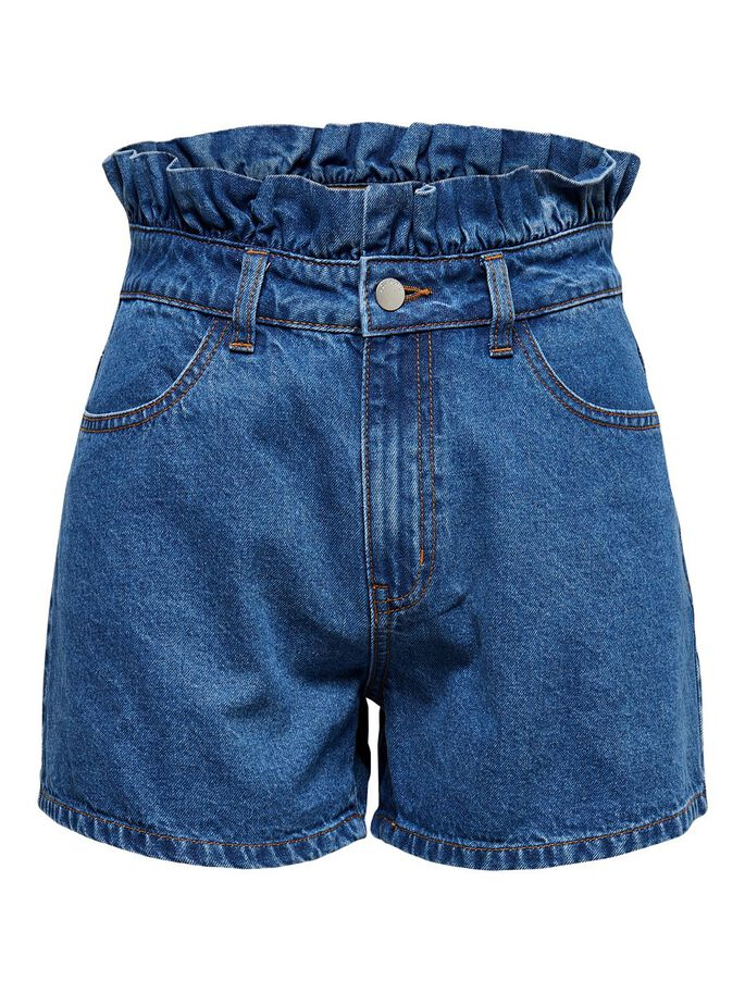 TAILLE HAUTE SHORTS EN JEAN, Medium Blue Denim, large