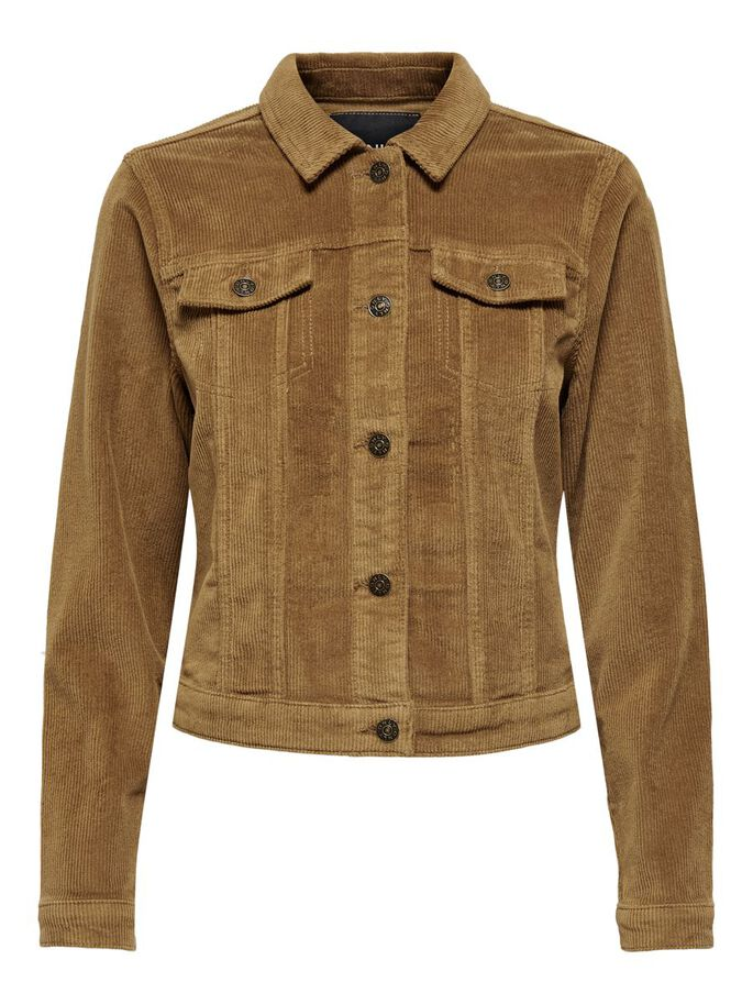 CORDUROY JACKET, Toasted Coconut, large