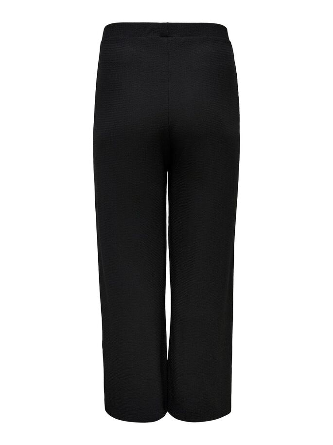 CURVY WIDE TROUSERS, Black, large