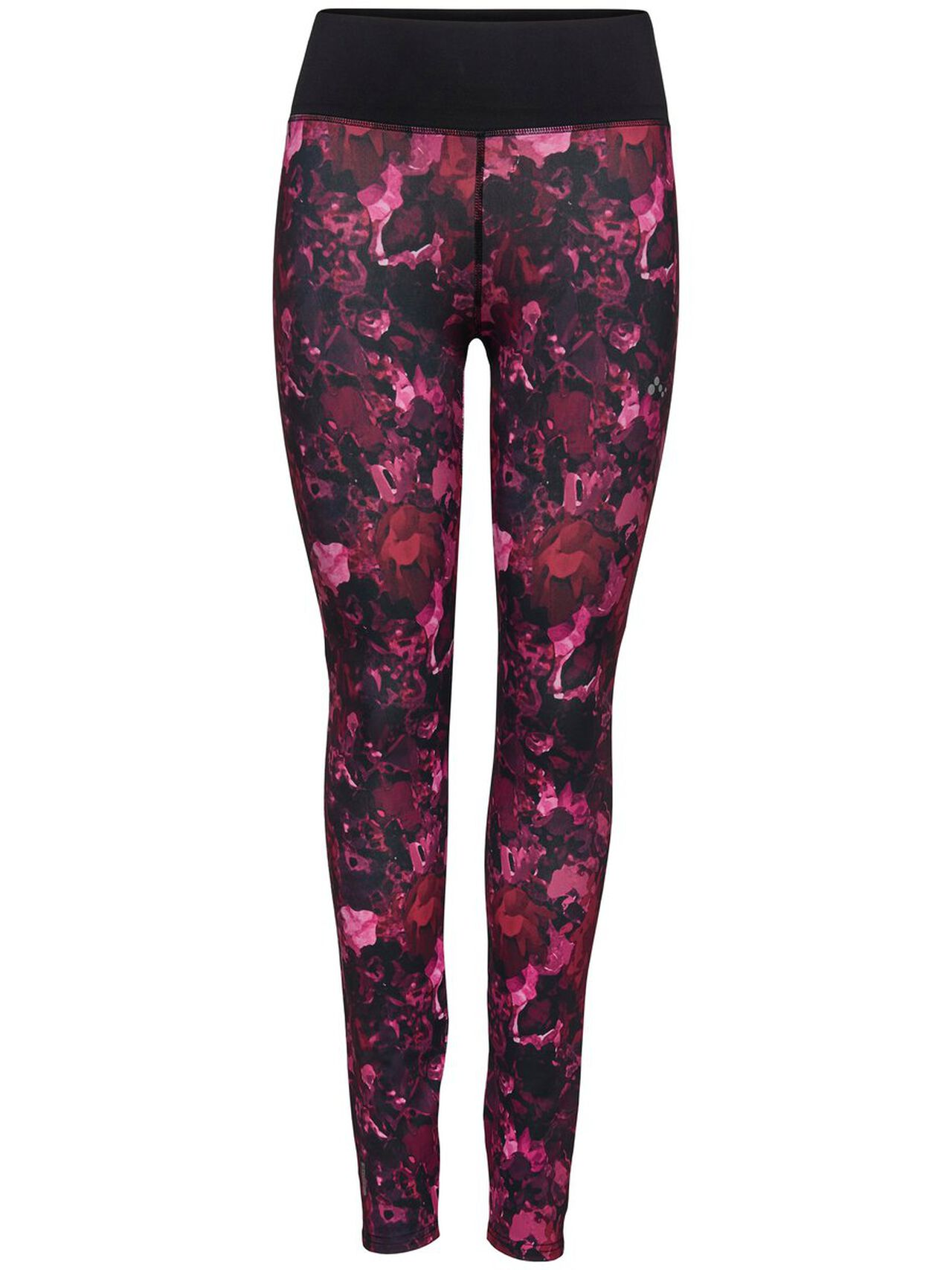 ONLY Print Trainingstights Damen Rot | Sportbekleidung > Sporthosen > Tights | Rot | ONLY