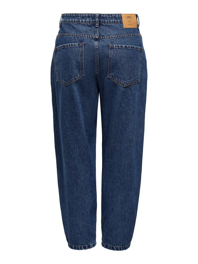 ONLYOKO LIFE HW BALLOON JEANS STRAIGHT FIT, Dark Blue Denim, large