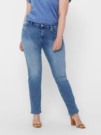 CURVY CARVERA REG STRAIGHT FIT JEANS