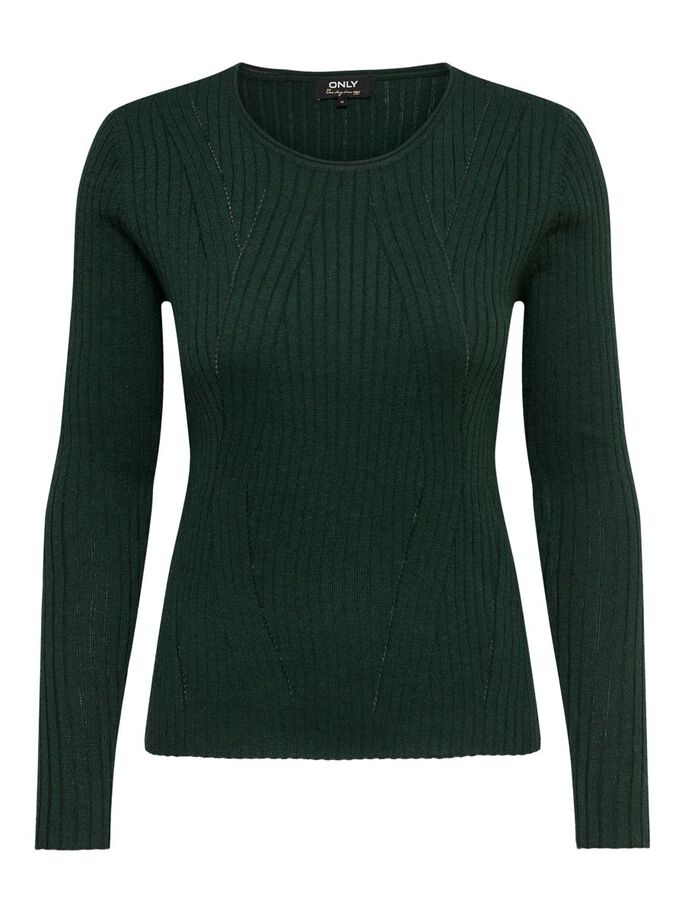 TEXTURE KNITTED PULLOVER, Pine Grove, large