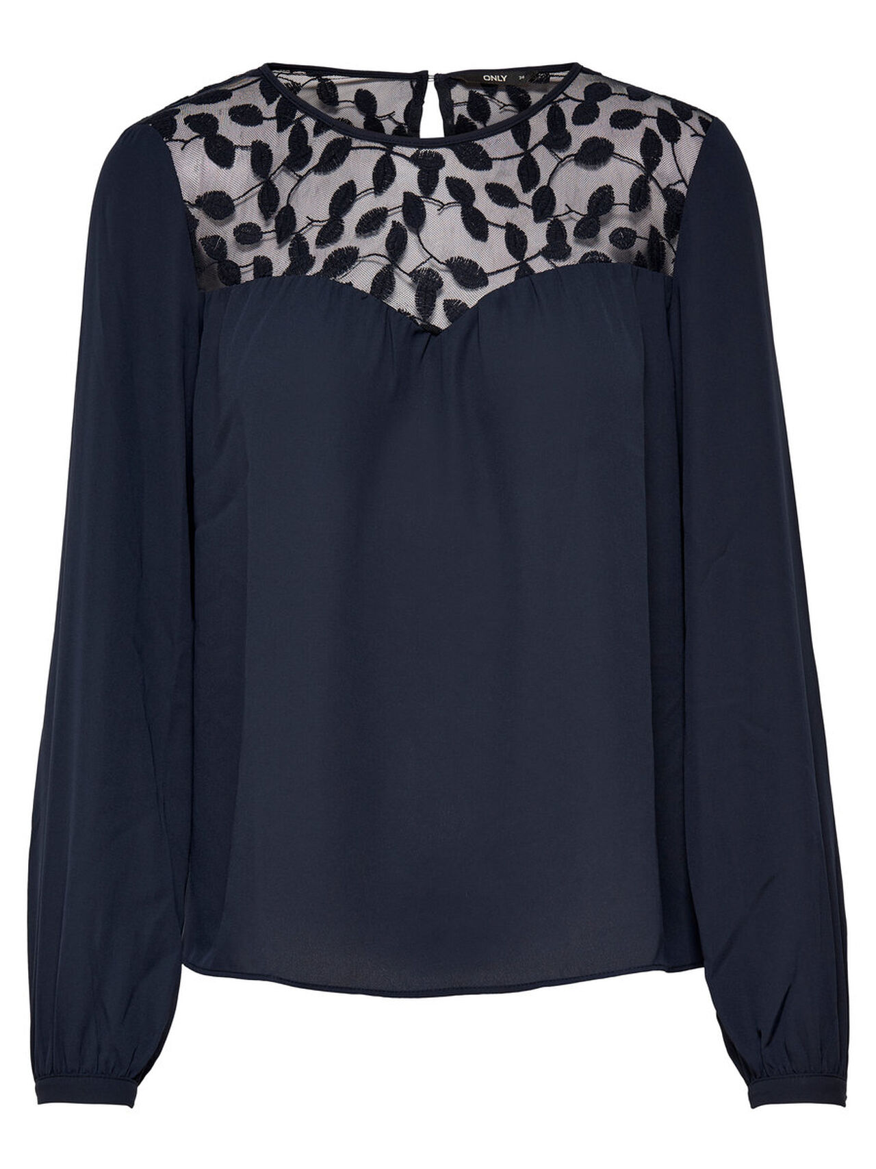 ONLY Detailed Long Sleeved Top Women Blue