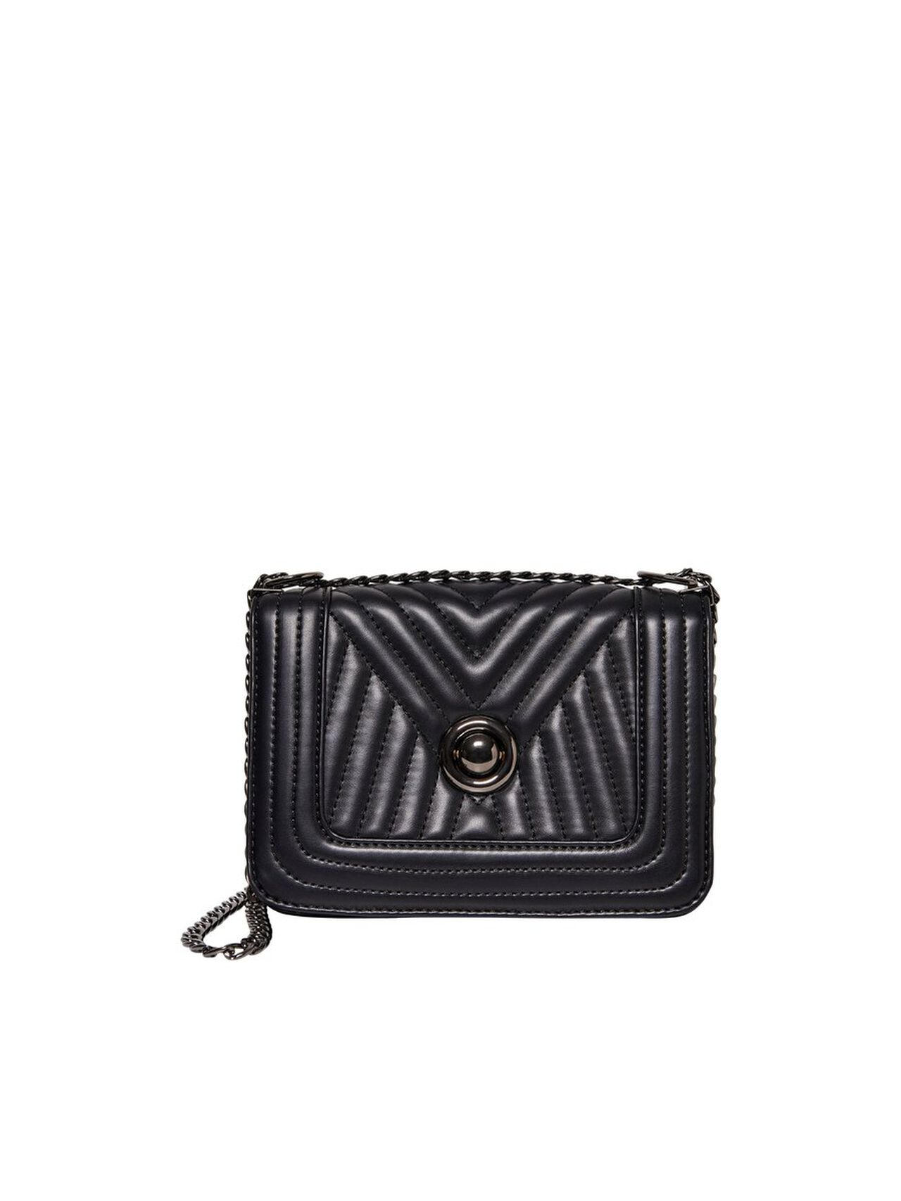 ONLY Leather Look Quilted Crossbody Bag Women Black