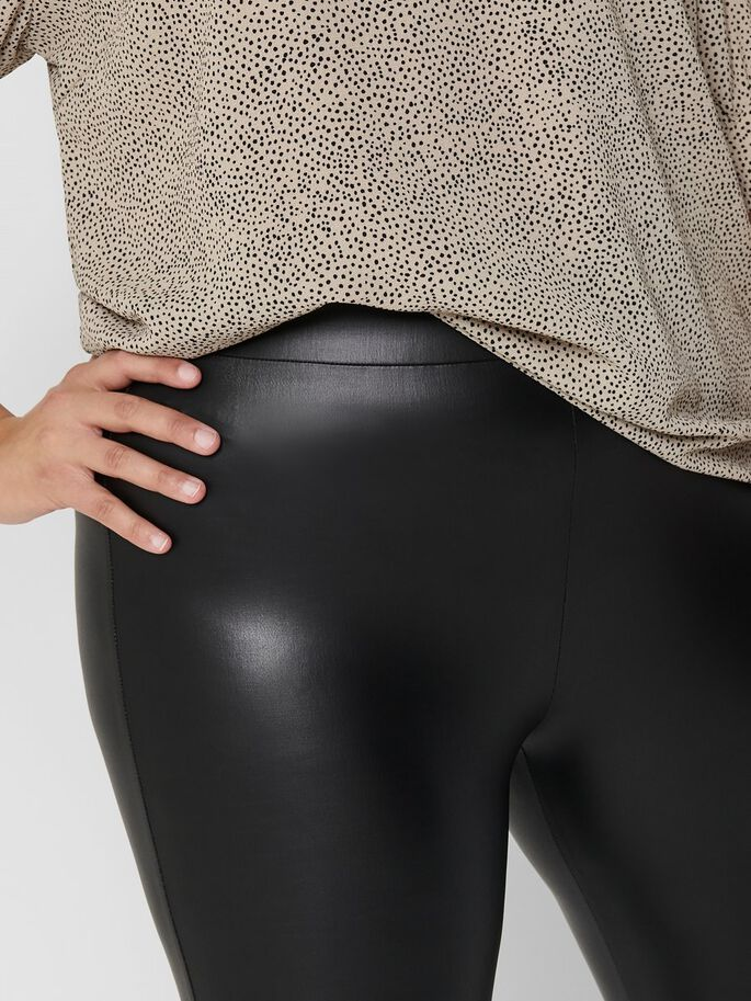 CURVY COATED LEGGINGS, Black, large