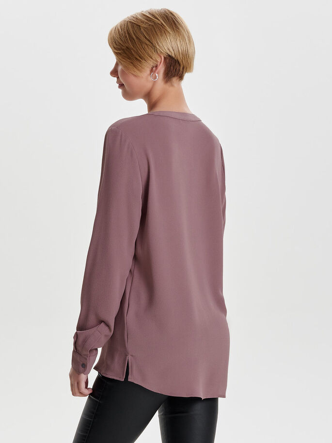 LOCKERES LANGARMHEMD, Rose Taupe, large