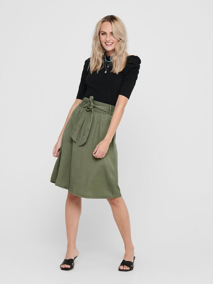 BELT MIDI SKIRT, Kalamata, large