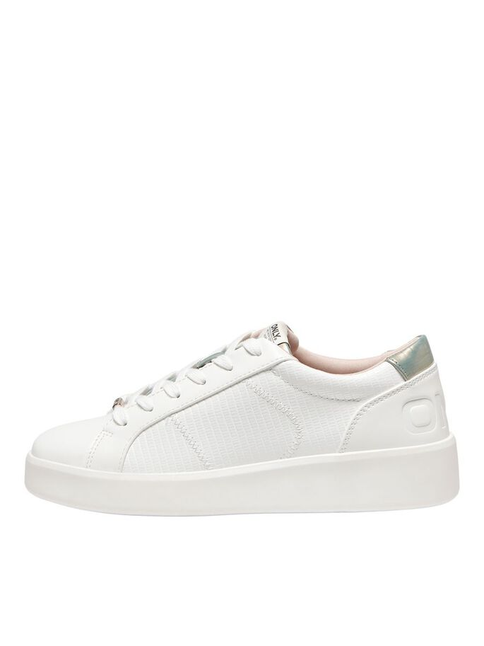 TEXTURE SNEAKERS, White, large