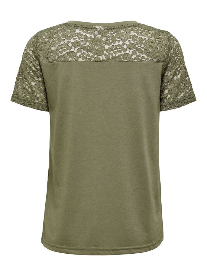 LACE DETAIL TOP, Dusky Green, large