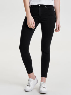 STUDIO MEDIUM WAIST SILVER SKINNY FIT JEANS