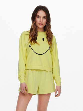 SMILEY-FRONTPRINT SWEATSHIRT