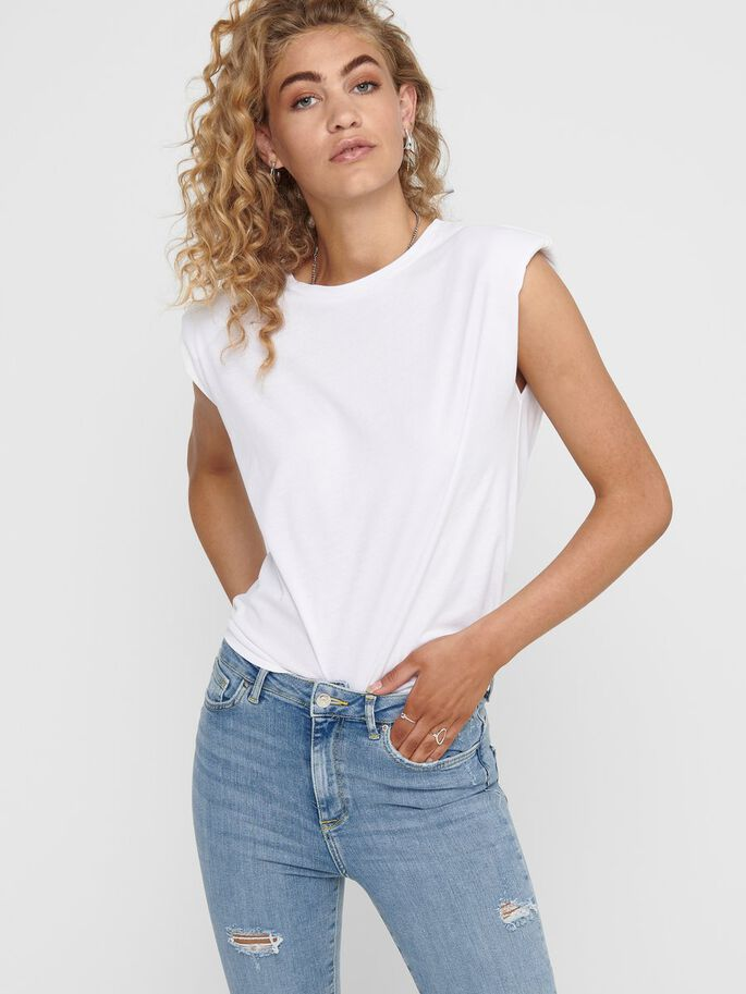 COUPE AMPLE T-SHIRT, White, large