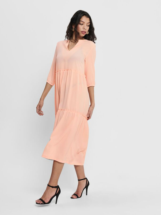 SOLID COLORED DRESS, Tropical Peach, large