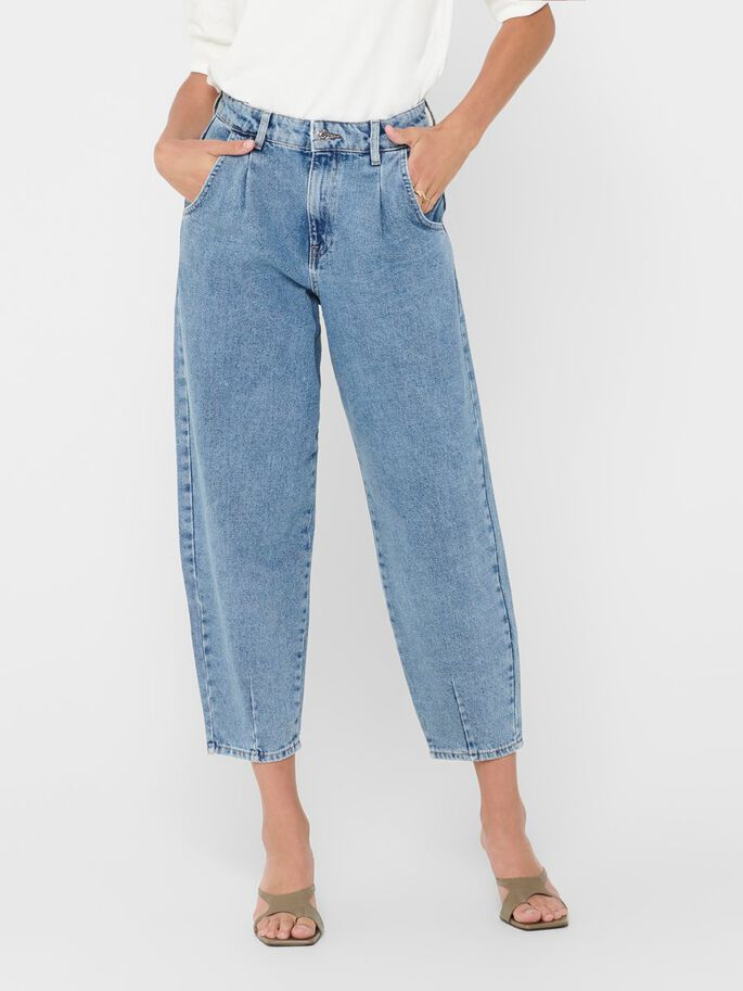 ONLVERNA BOMB BALLOON HIGH WAISTED JEANS, Light Blue Denim, large