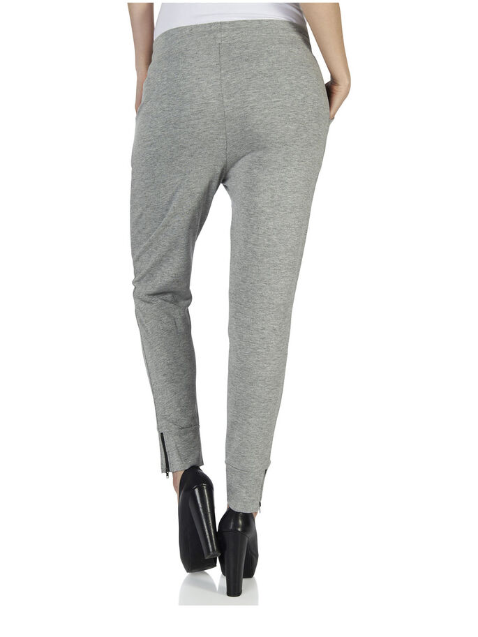 PU DETAILED SWEAT PANTS, Light Grey Melange, large