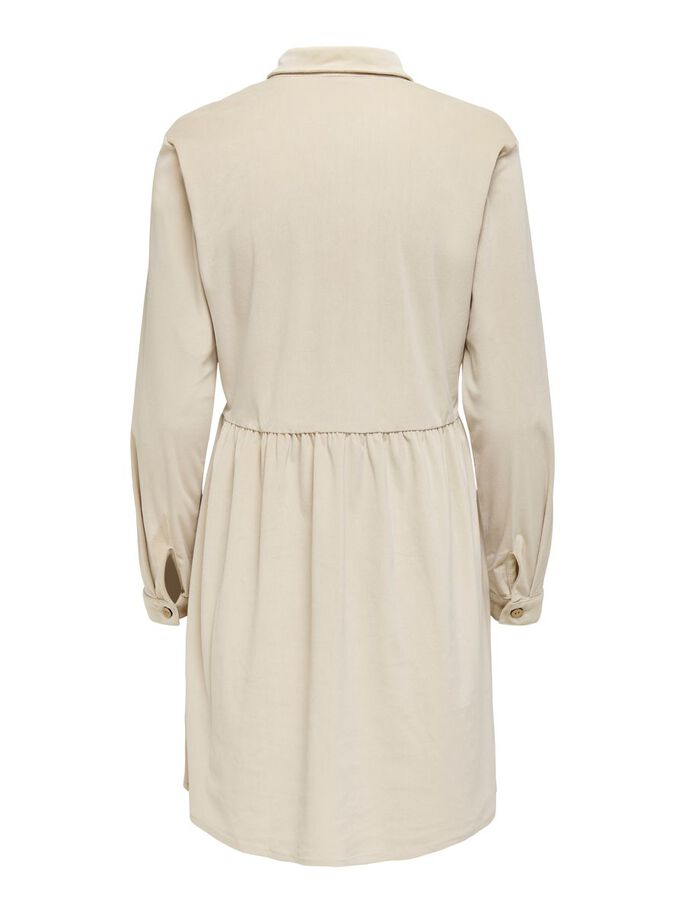 CORDUROY DRESS, Cement, large