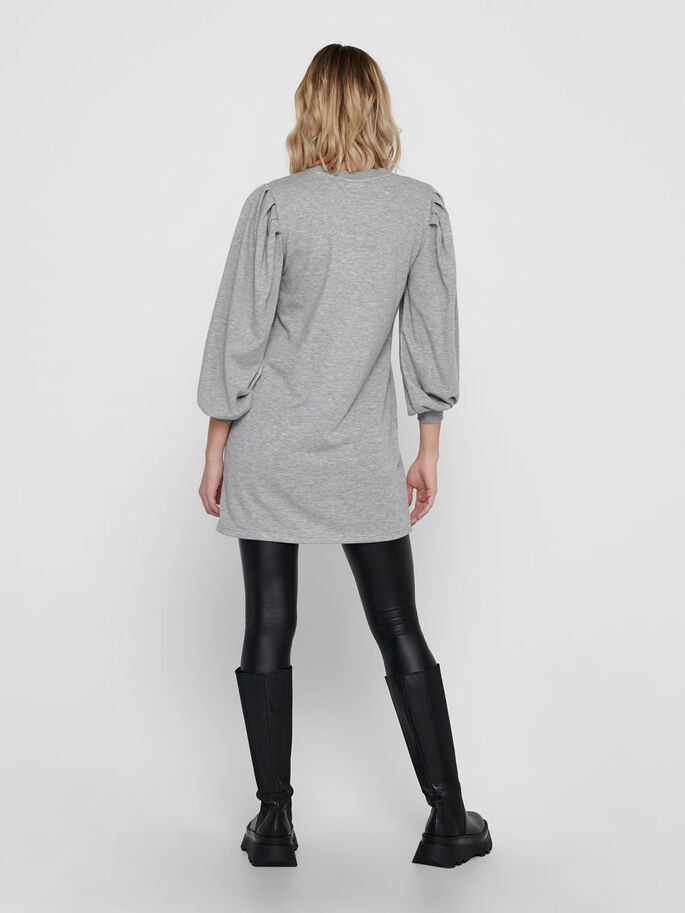 SWEAT KLEID, Light Grey Melange, large