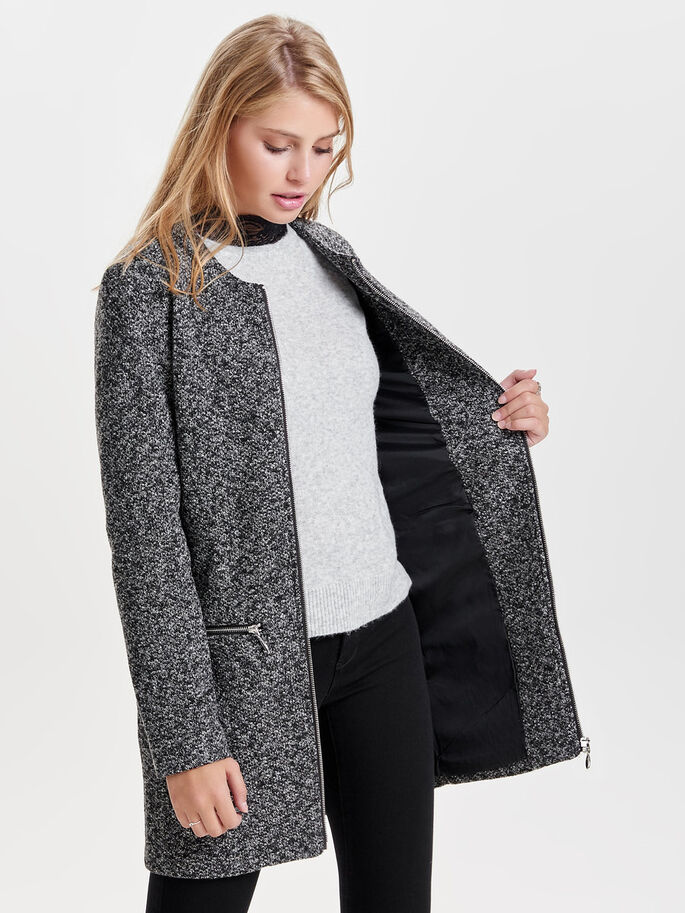 CLASSIC JACKET, Dark Grey Melange, large