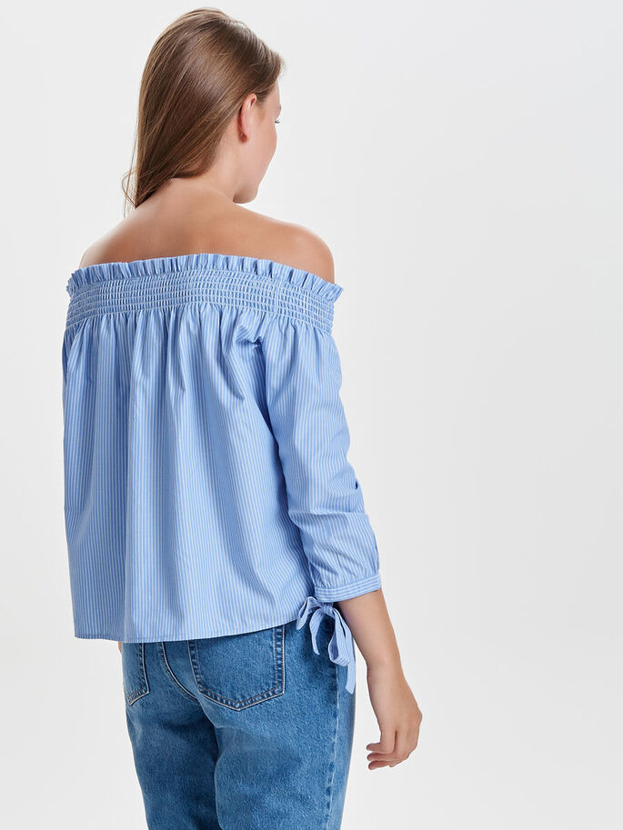 OFF-SHOULDER LANGERMET TOPP, Cloud Dancer, large