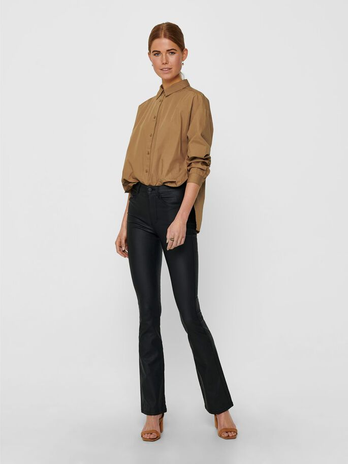 LOOSE FITTED SHIRT, Toasted Coconut, large