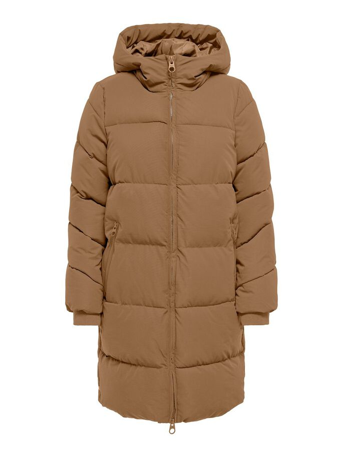 QUILTED COAT, Toasted Coconut, large