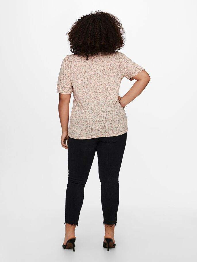 MANCHES BOUFFANTES VOLUPTUEUSES TOP, Pumice Stone, large