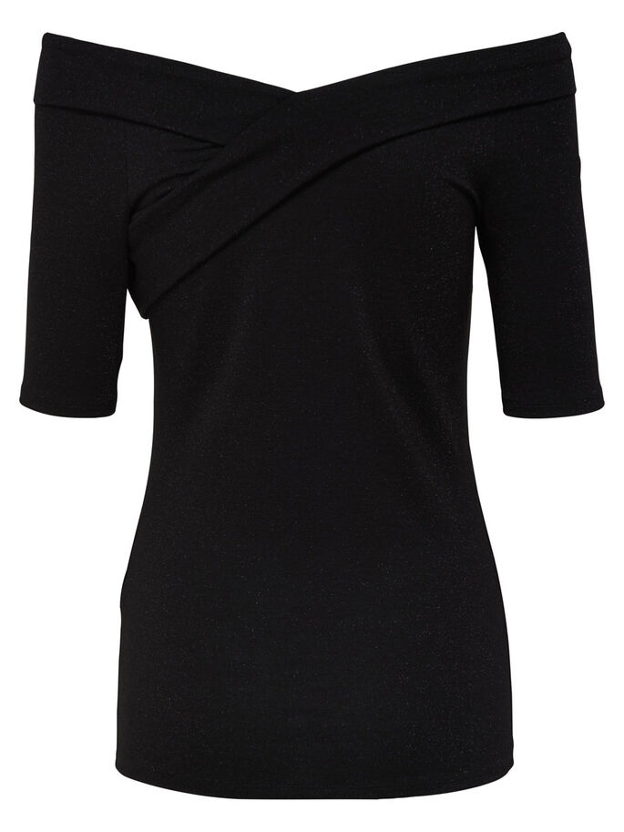 WRAP 2/4 SLEEVED BLOUSE, Black, large