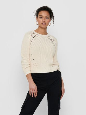LACE DETAIL KNITTED PULLOVER