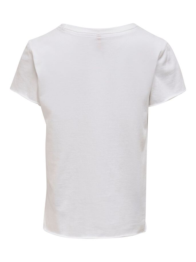 MED TRYCK T-SHIRT, Bright White, large