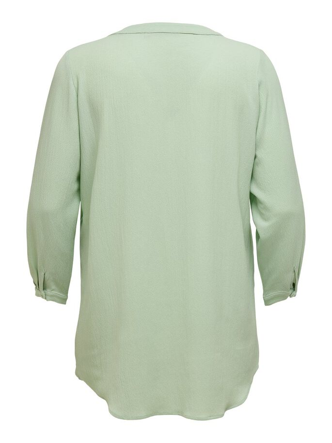 VOLUPTUEUSE MANCHES LONGUES TUNIQUE, Frosty Green, large