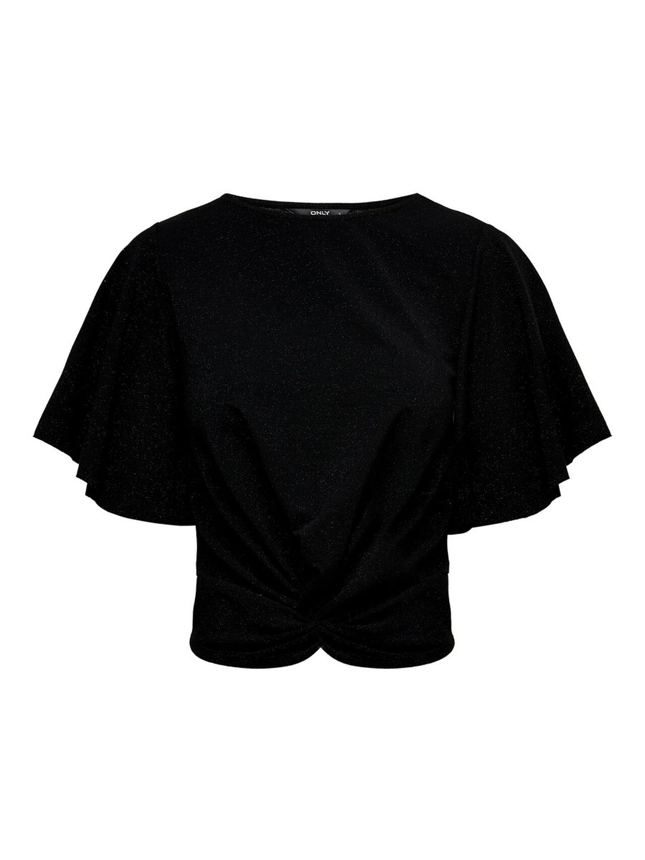 ONLY Knot Short Sleeved Top Women Black