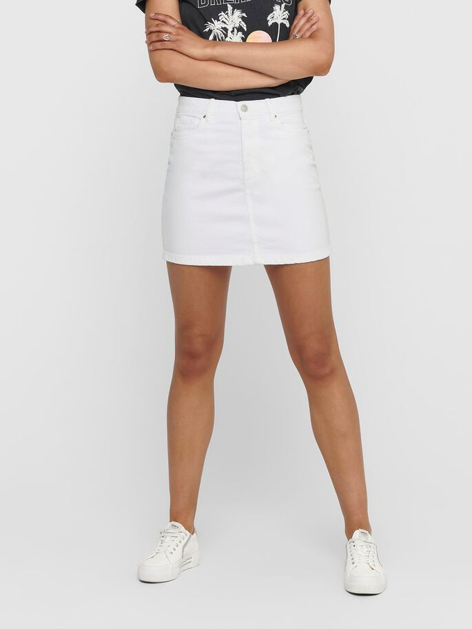 COLORED SKIRT, White, large