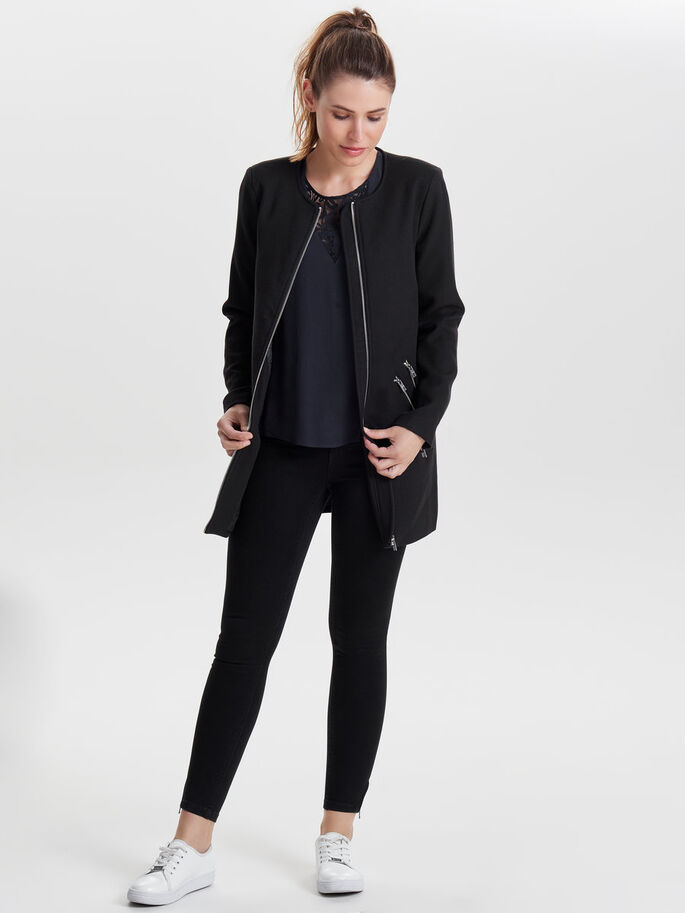 SOLID COAT, Black, large