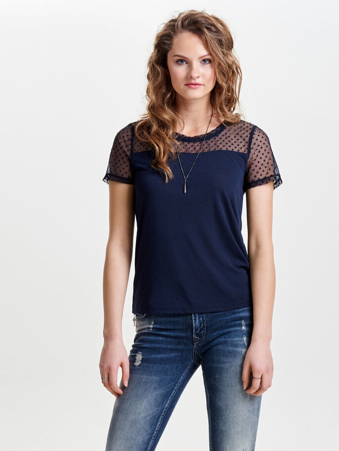 MIX TOP MET KORTE MOUWEN, Night Sky, large