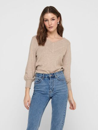 OFF-SHOULDER GEBREIDE TRUI