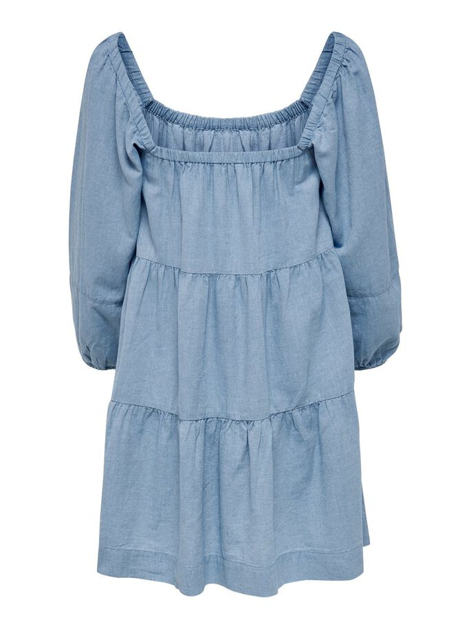 SQUARE NECK DRESS, Blue Glow, large