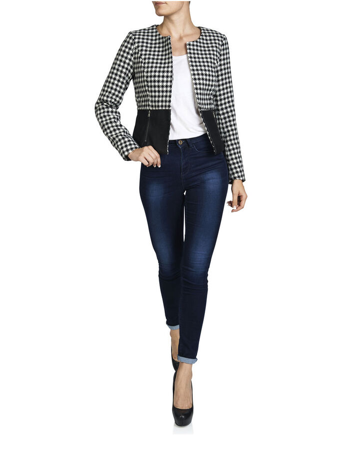 CROPPED BLAZER, Oatmeal, large
