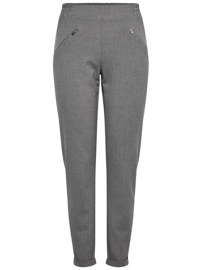 DETAILLIERTE HOSE, Light Grey Melange, large