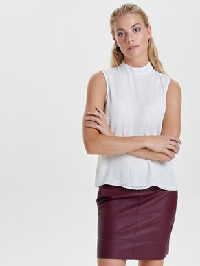 ROUND NECK SLEEVELESS TOP