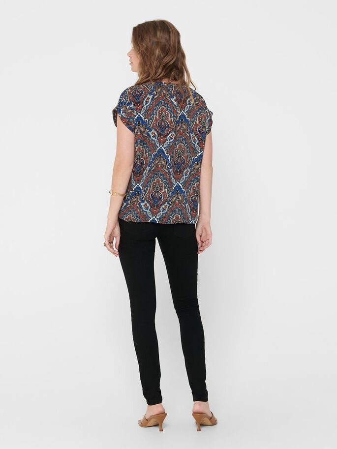 BUTTON-UP TOP, Burnt Henna, large