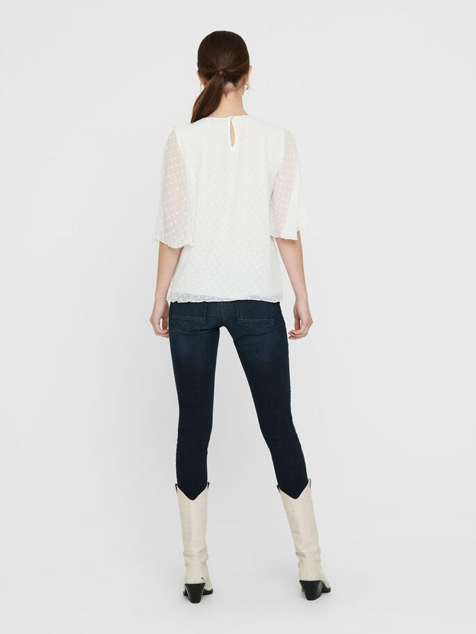 COUPE AMPLE TOP, White, large