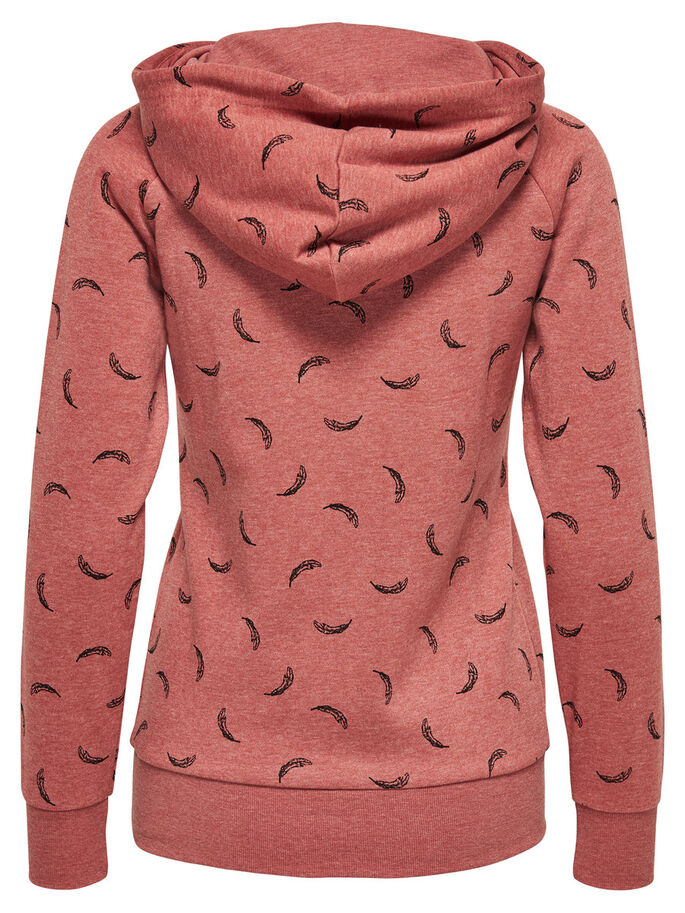 TRYCKT HOODIE, Canyon Rose, large