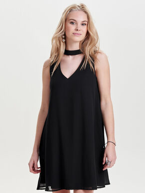 CHOKER SLEEVELESS DRESS