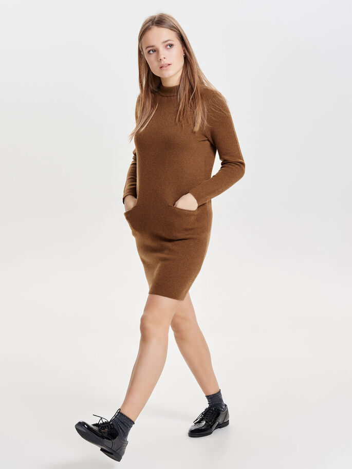LOOSE KNITTED DRESS, Rubber, large