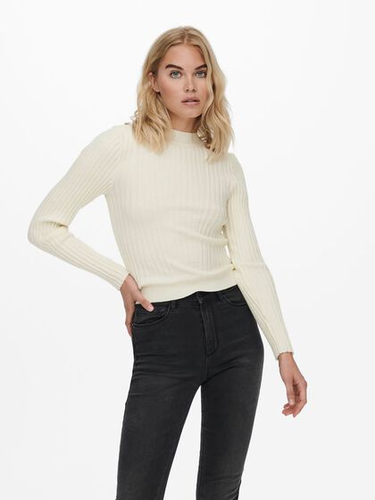 RIB KNITTED PULLOVER