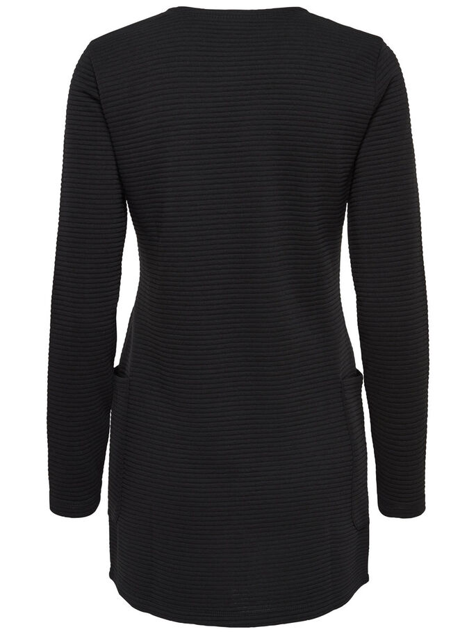 SWEAT CARDIGAN, Black, large