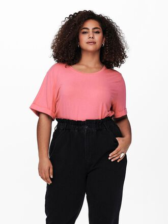 CURVY SOLID COLORED T-SHIRT